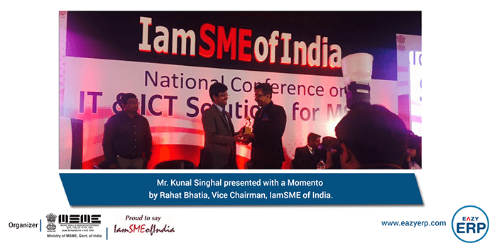 Eazy ERP, showcased ICT Solutions for SME's @ National Conference by MSME's