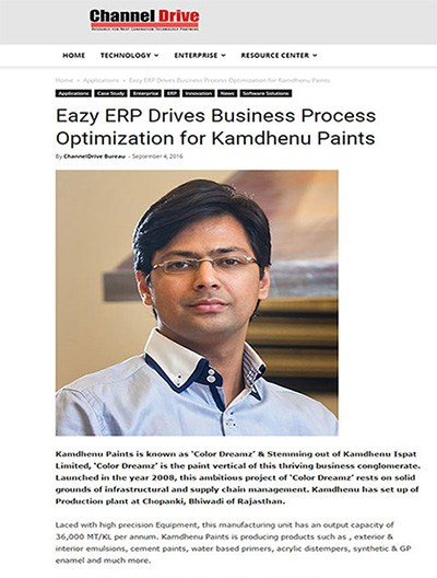 Eazy ERP, ERP for Paint Industry