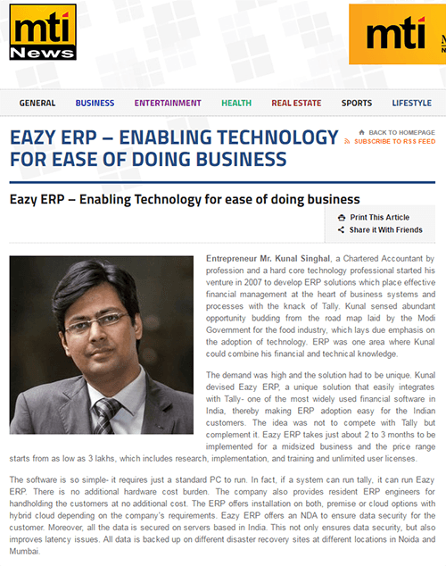Eazy ERP, ERP for small business gurgaon